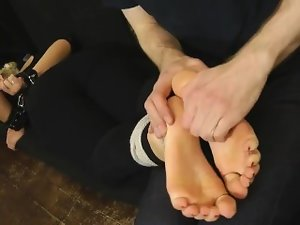 Billie's Supah Ticklish Feet: Socks, Nylons, and Barefooted