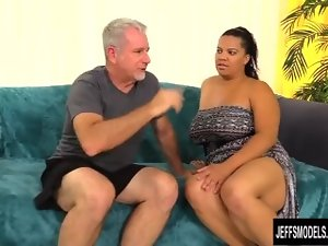 Big titted Latina Heavy Lady Spice Loves Licking and Banging an Older Guy