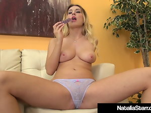 Horny Natalia Starr Faux-cock Bangs Her Stunning Vagina To Orgasm!