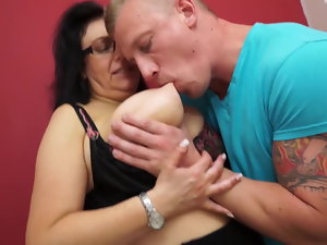 Taboo hook-up amazing huge-boobed mum and son-in-law