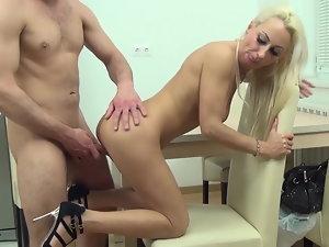 Lewd tempting blonde Mommy