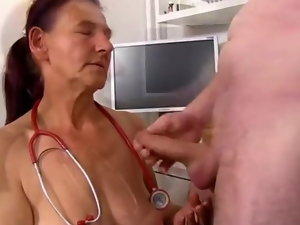 Grandma Jizz shots Hana Baskova