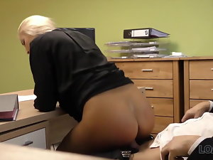LOAN4K. Very first pornography casting of Karol in office of loan manage