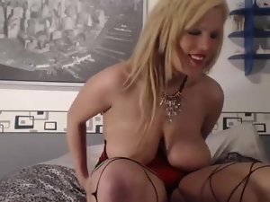 Zara displays her enormous tits and snatch on webcam