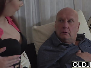 Step daughter-in-law wants to fuck her step dad on football game