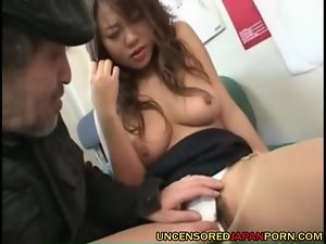 Uncensored Jap Porno 19yo slutty girl in pantyhose and grandpa