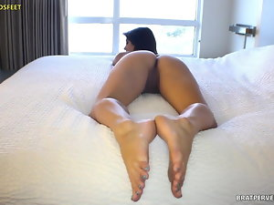 Nude Feet and Butt Exposed