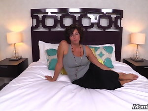 Attractive Mega big melons Fallen angel Milf Fucks Cock Point of view