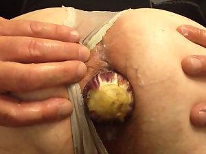 Wide open my greedy butt