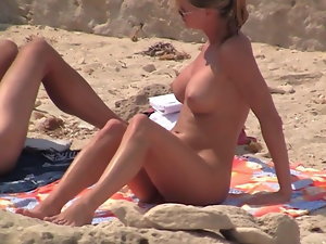 Sensual Duo at Naked Beach