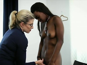 Blondie Mum With Black School Damsel