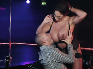 Buxom babe Emma Butt is getting fucked in a VIP room