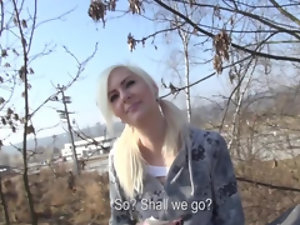 Young blonde skater needs money and has sex on camera to earn it