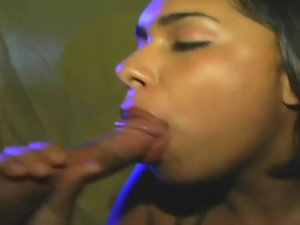 Exotic Latina welcomes a well endowed man into her vagina