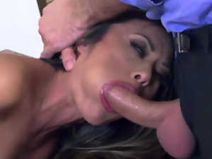 Exotic porn chick Kaylani Lei tamed by a hunk