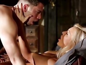 Blonde cougar simply adores having her young lover over for some fun