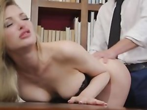 Blonde cooze will do anything to make her boss happy and satisfied