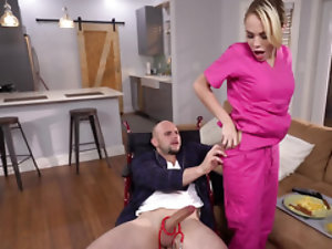 The medical nurse needs to inspect his dick properly before sitting on it