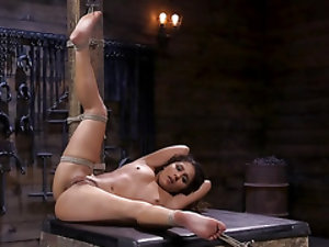 Man dominates tied up Latina thinking that some pain won't hurt