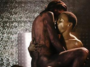 Brunette milf artist enjoys lesbian action with her model