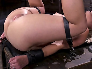 The blonde harlot is into some kinky BDSM stuff and submission
