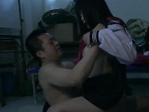 Asian schoolgirl gets a hard banging from her teacher