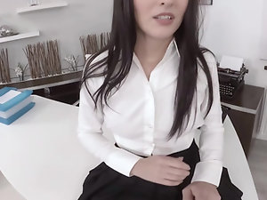 Katy Rose interested in work getting ready to be fucked by boss
