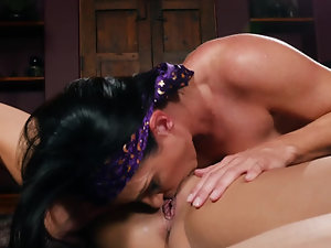 Two lovely lassies play lesbian games in HD video