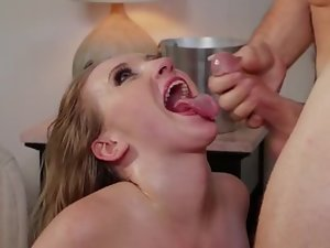 A bimbo with a firm ass is getting fucked hard on the bed