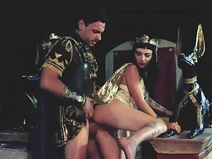 Sexy Cleopatra is getting her wet pussy penetrated by Mark
