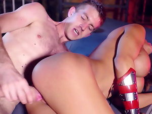 Flexible Madison Ivy bent and boned by a big cock