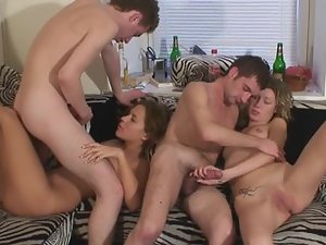 A group of people is making love in the sexy group sex video